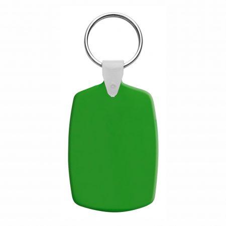 breloc plastic slice verde